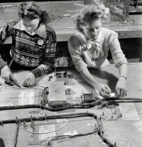 Wiring harnesses for the B-17 World War 2 bomber (Click for full-size)